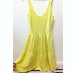 Victoria Secret   Yellow Fitted Summer Dress Rib'd